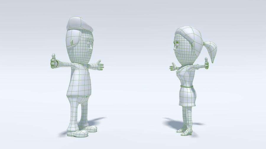 Kombipack für Jungen und Mädchen royalty-free 3d model - Preview no. 23