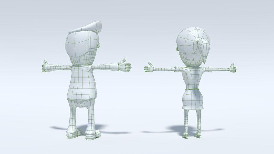 Kombipack für Jungen und Mädchen royalty-free 3d model - Preview no. 20