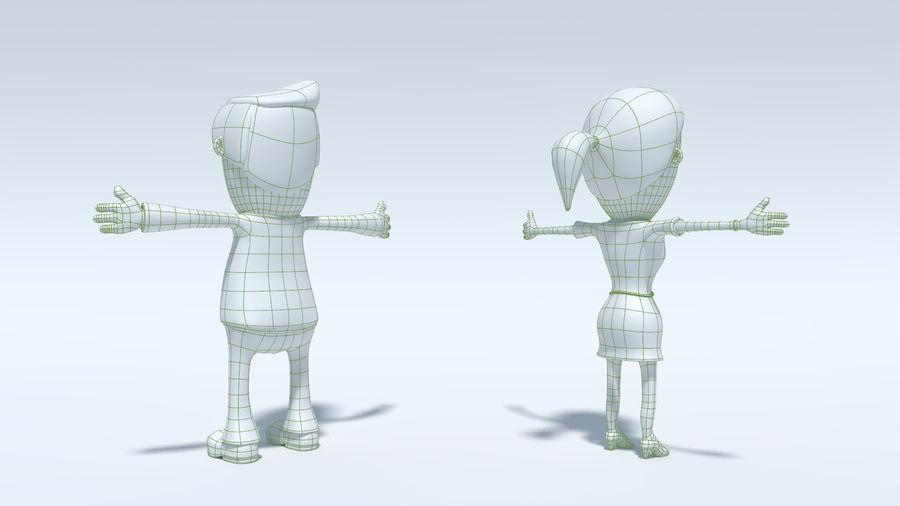 Kombipack für Jungen und Mädchen royalty-free 3d model - Preview no. 18