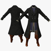 18th Century Mens Costume 3d model