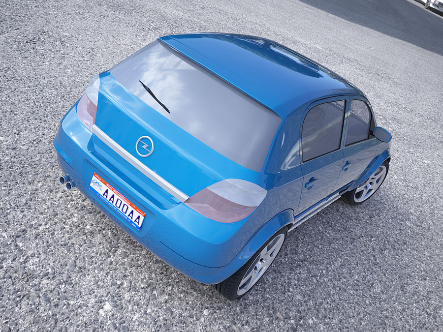 Opel Astra III royalty-free 3d model - Preview no. 8