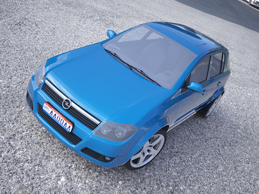 Opel Astra III royalty-free 3d model - Preview no. 7