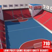 Street Soccer Court 2 3d model