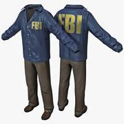FBIエージェントの服 3d model