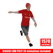Joueur de football de rue V1 3d model