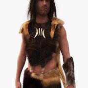 Hombre de las cavernas de Neanderthal modelo 3d