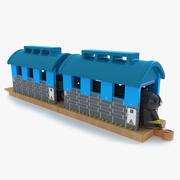 Set treno per bambini 8 3d model