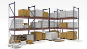 Industrial Racks and Boxes 3d model