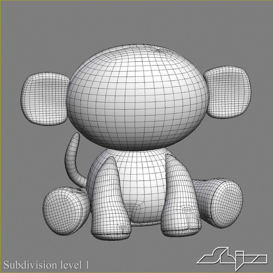 Collezione di giocattoli animali Skelanimals royalty-free 3d model - Preview no. 2