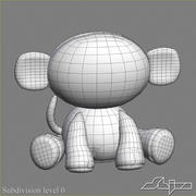 Collezione di giocattoli animali Skelanimals 3d model