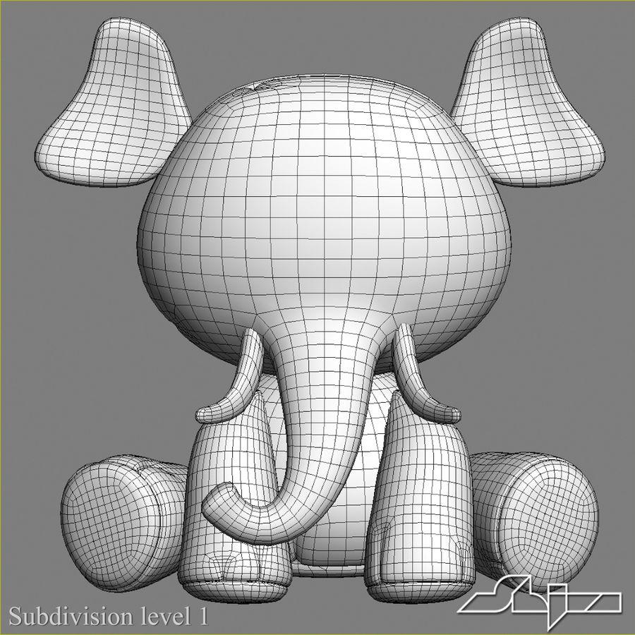 Collezione di giocattoli animali Skelanimals royalty-free 3d model - Preview no. 24