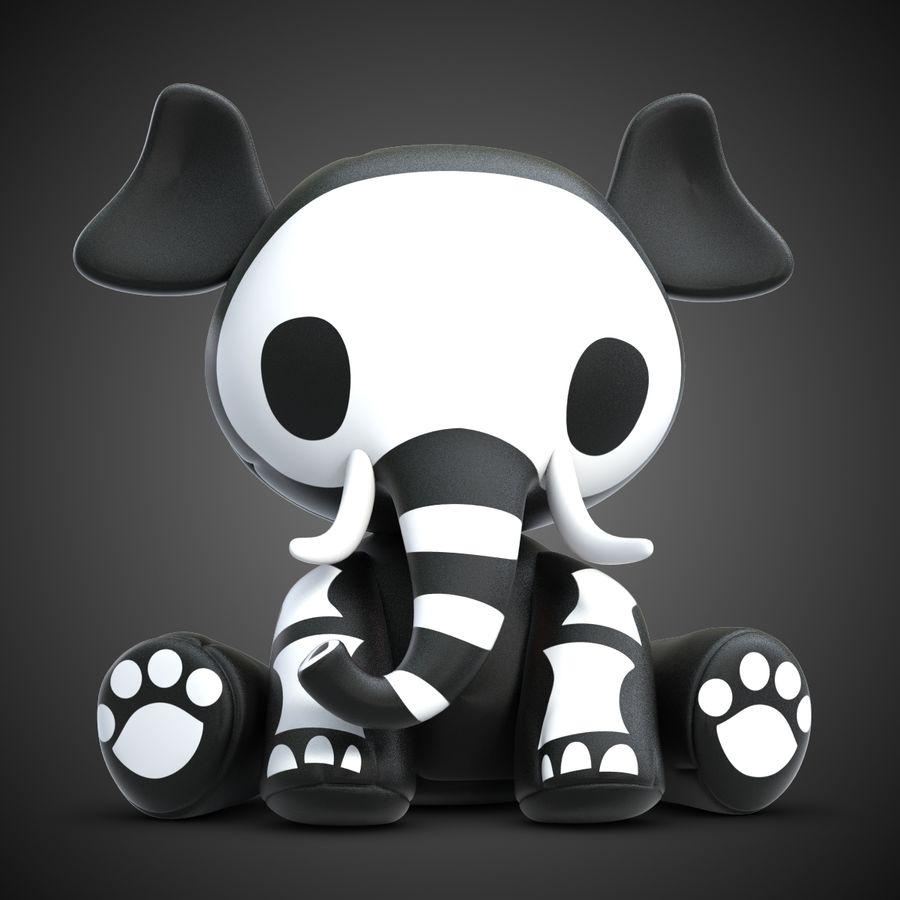 Collezione di giocattoli animali Skelanimals royalty-free 3d model - Preview no. 19