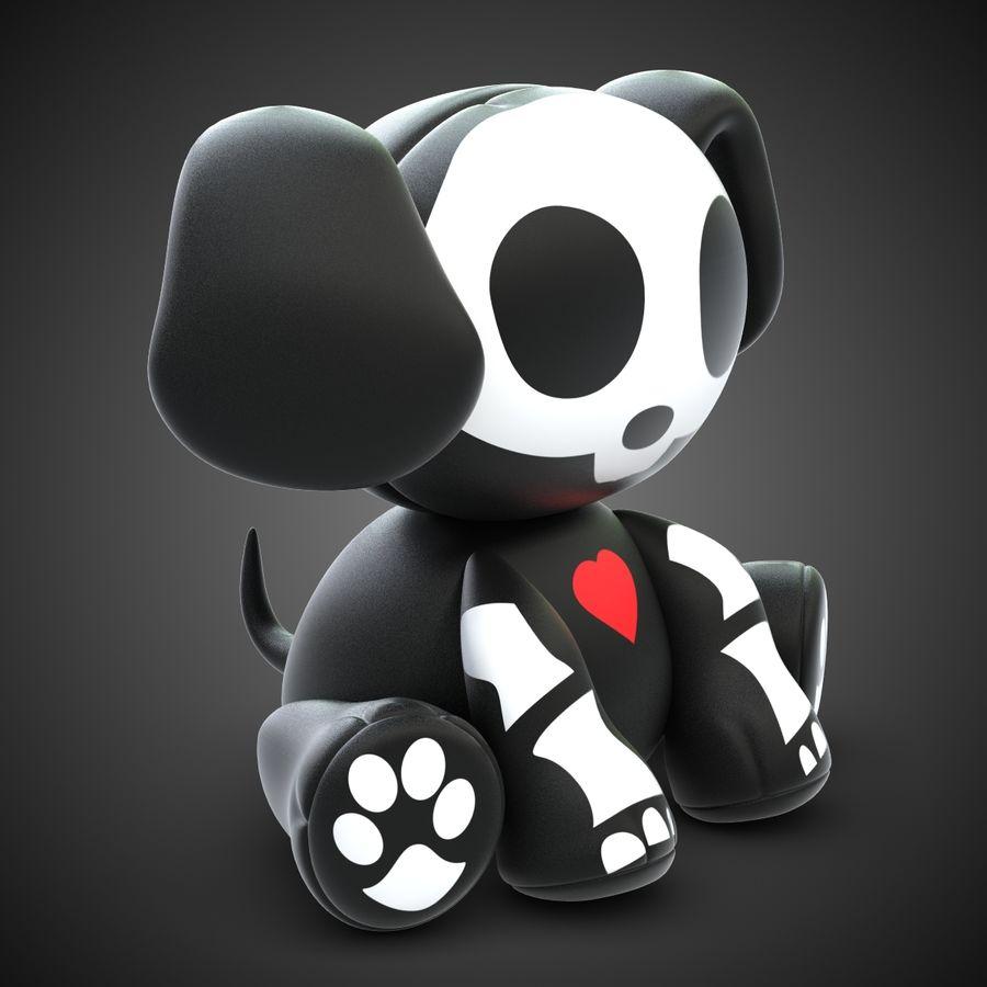 Collezione di giocattoli animali Skelanimals royalty-free 3d model - Preview no. 14