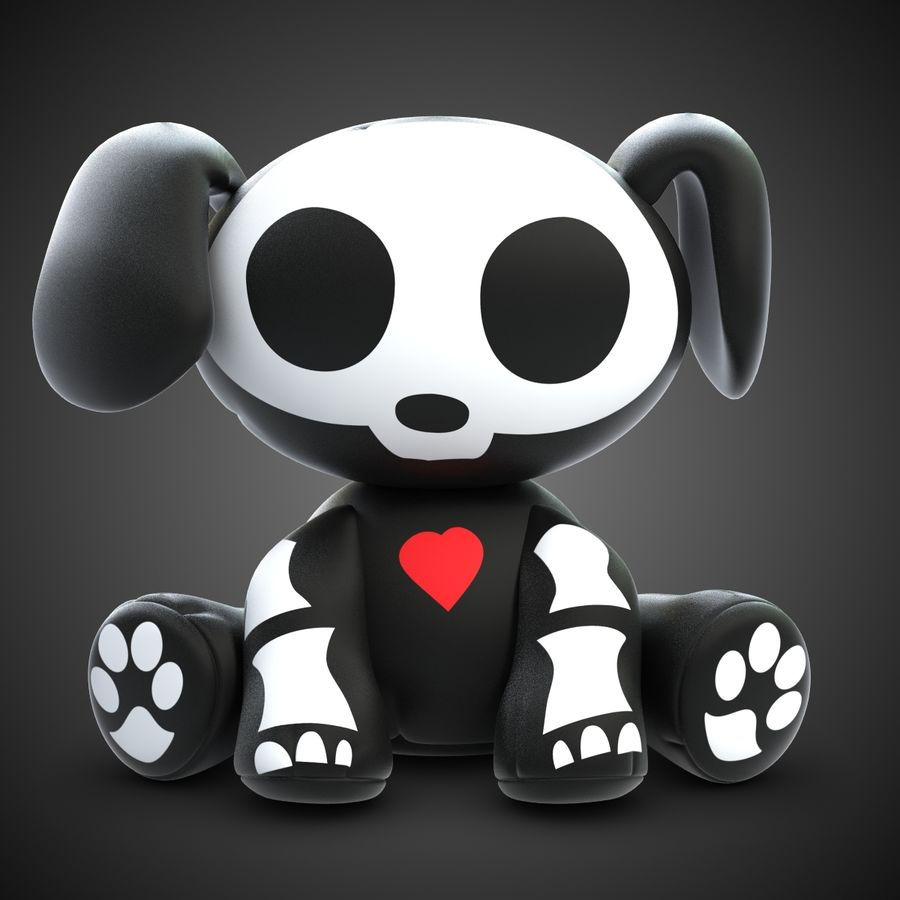 Collezione di giocattoli animali Skelanimals royalty-free 3d model - Preview no. 13