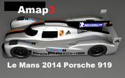 Le Mans Porsche 919 LMP1 3d model