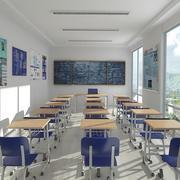 Klassenzimmer 2 3d model