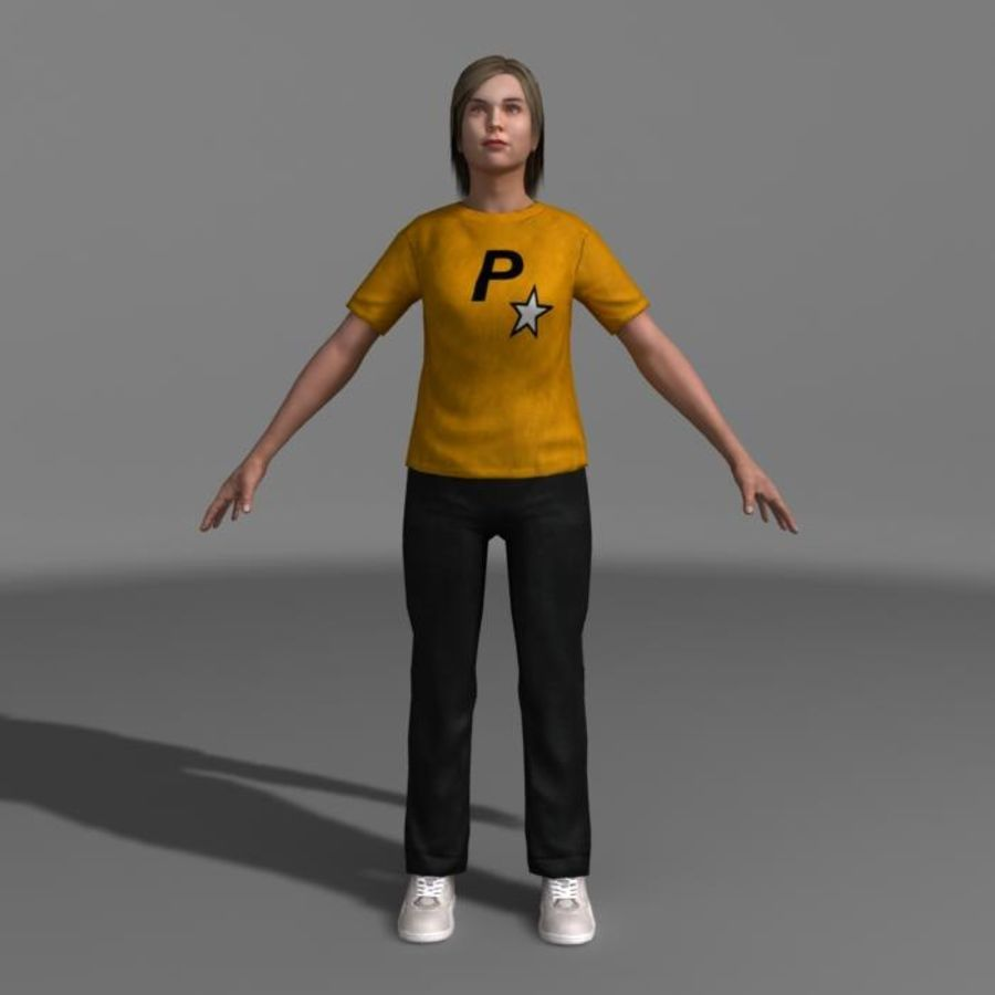 Genç Kız (Hileli) royalty-free 3d model - Preview no. 2