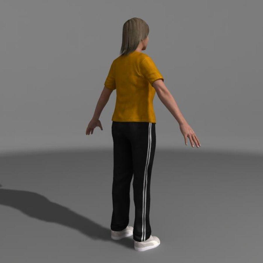 Genç Kız (Hileli) royalty-free 3d model - Preview no. 5