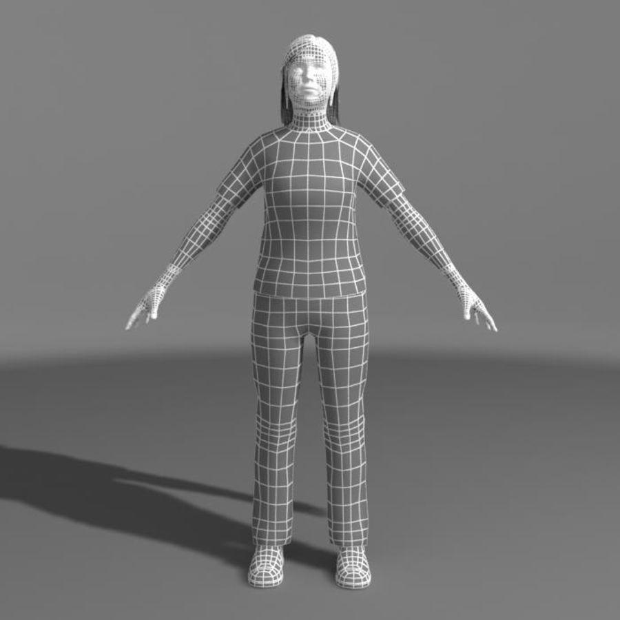 Genç Kız (Hileli) royalty-free 3d model - Preview no. 13