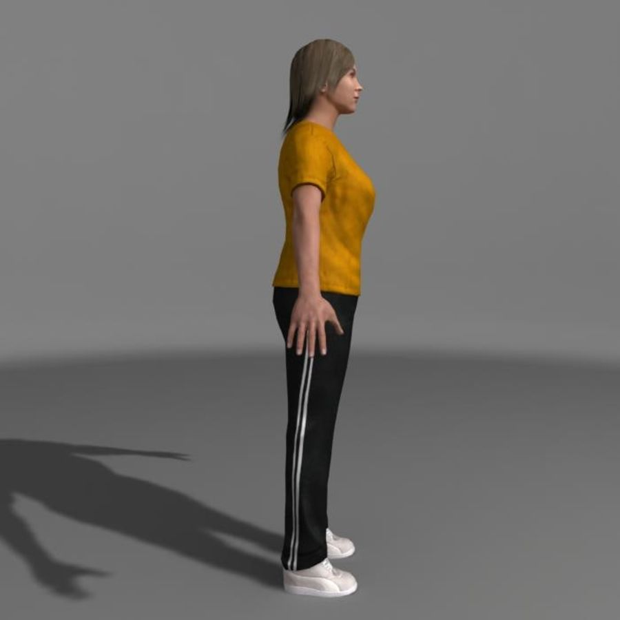 Genç Kız (Hileli) royalty-free 3d model - Preview no. 4