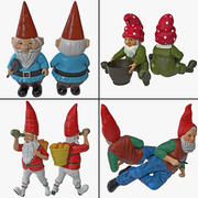 Lawn Gnome Collection 3d model