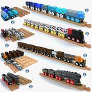 어린이 기차 장난감 컬렉션 2 3d model