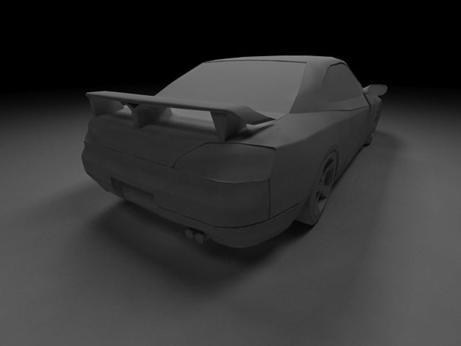 Nissan Silvia S15 royalty-free 3d model - Preview no. 11
