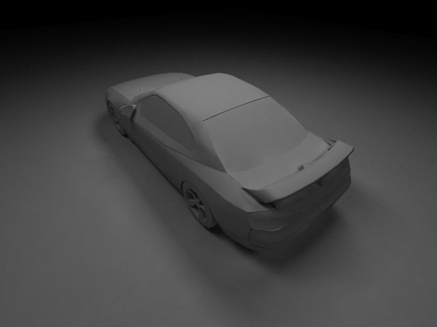 Nissan Silvia S15 royalty-free 3d model - Preview no. 13