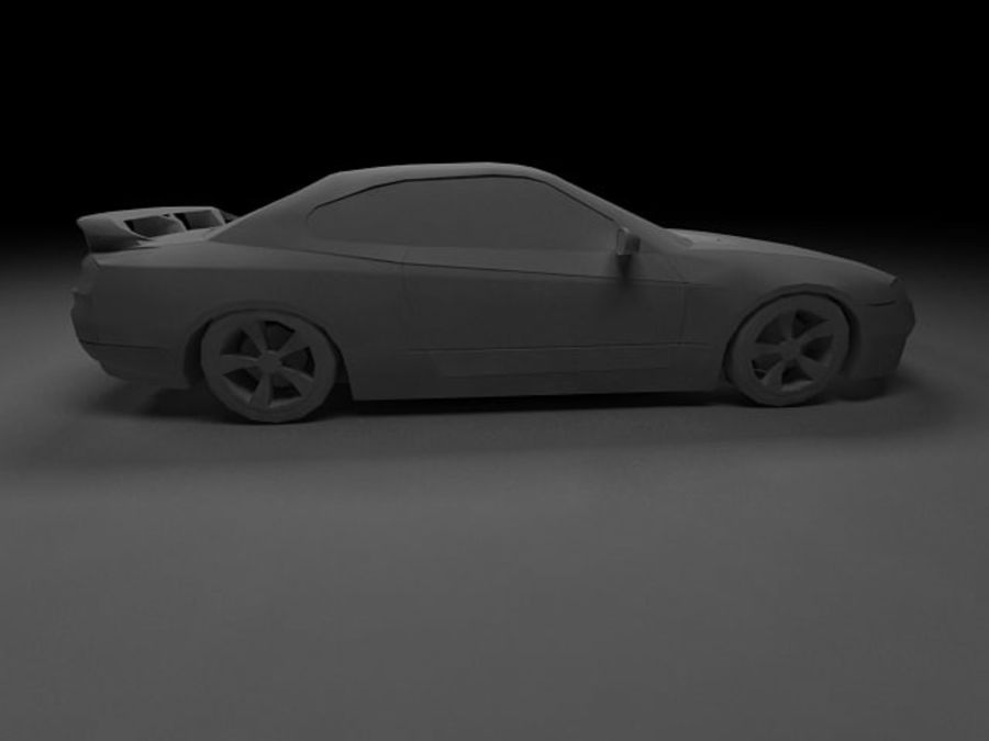 Nissan Silvia S15 royalty-free 3d model - Preview no. 12