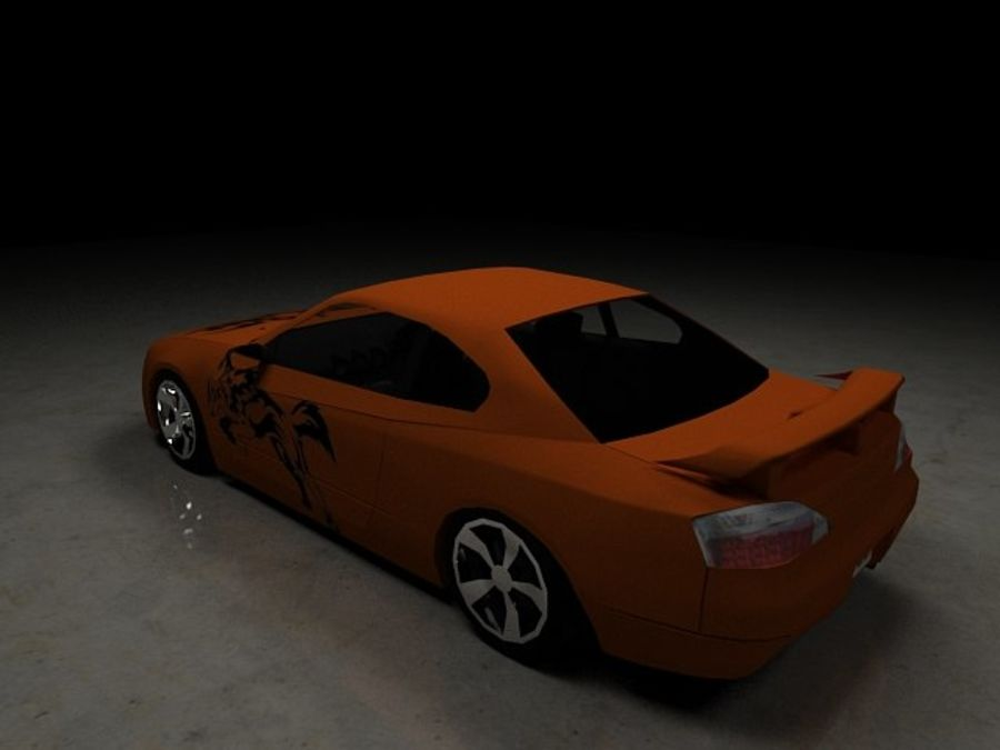 Nissan Silvia S15 royalty-free 3d model - Preview no. 24