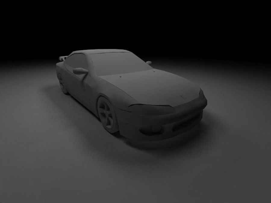 Nissan Silvia S15 royalty-free 3d model - Preview no. 14