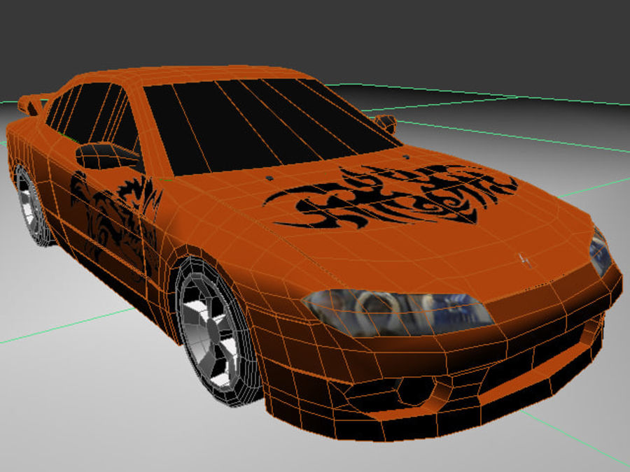 Nissan Silvia S15 royalty-free 3d model - Preview no. 9