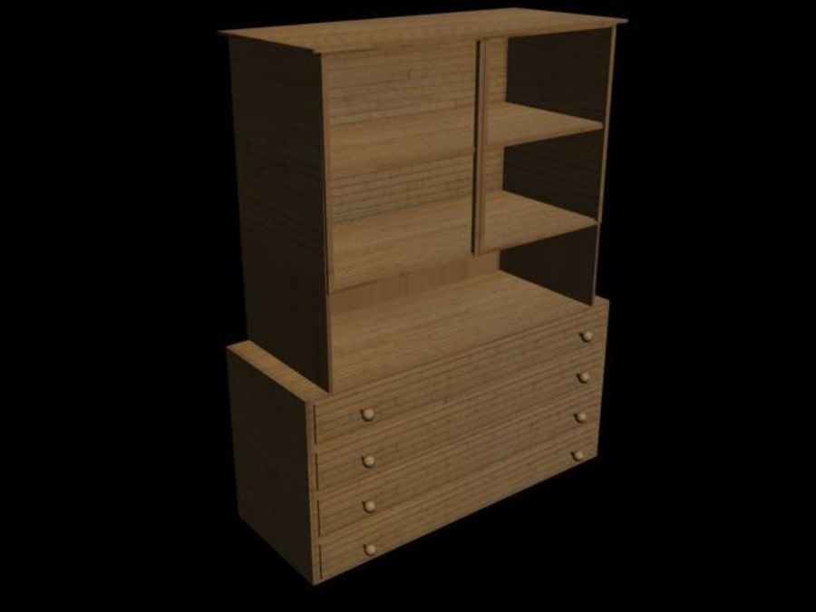 buffet royalty-free 3d model - Preview no. 1