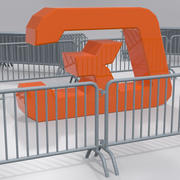 Crush barrier fence 3d model