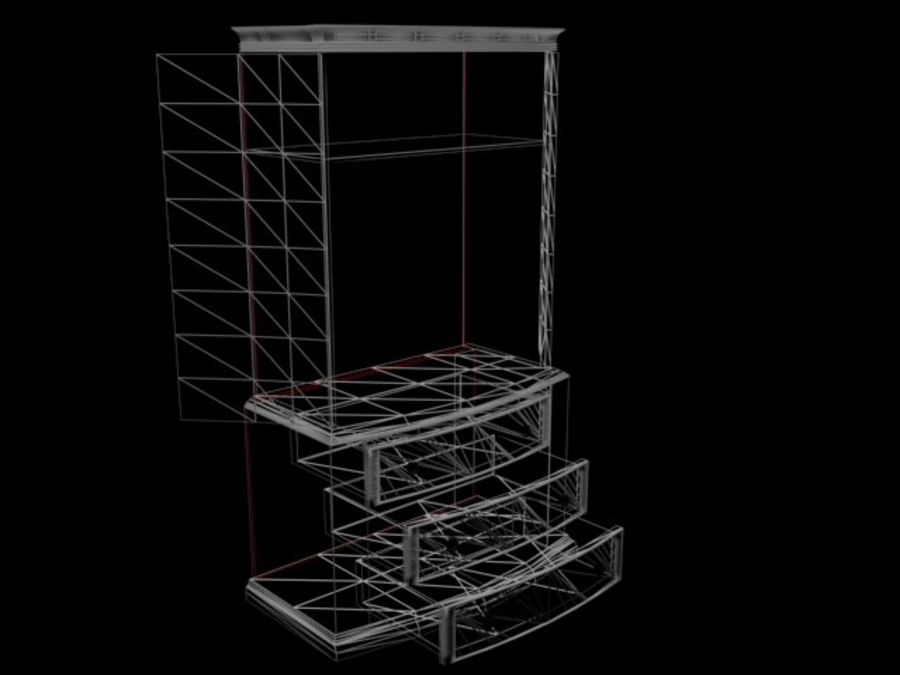 Şifonyer Armoire royalty-free 3d model - Preview no. 15