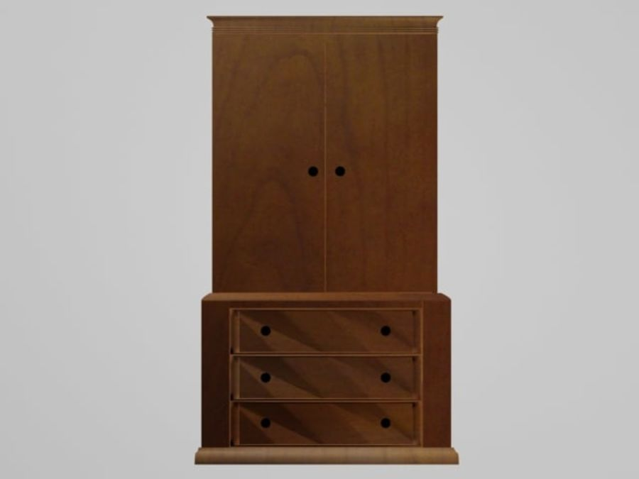Şifonyer Armoire royalty-free 3d model - Preview no. 3