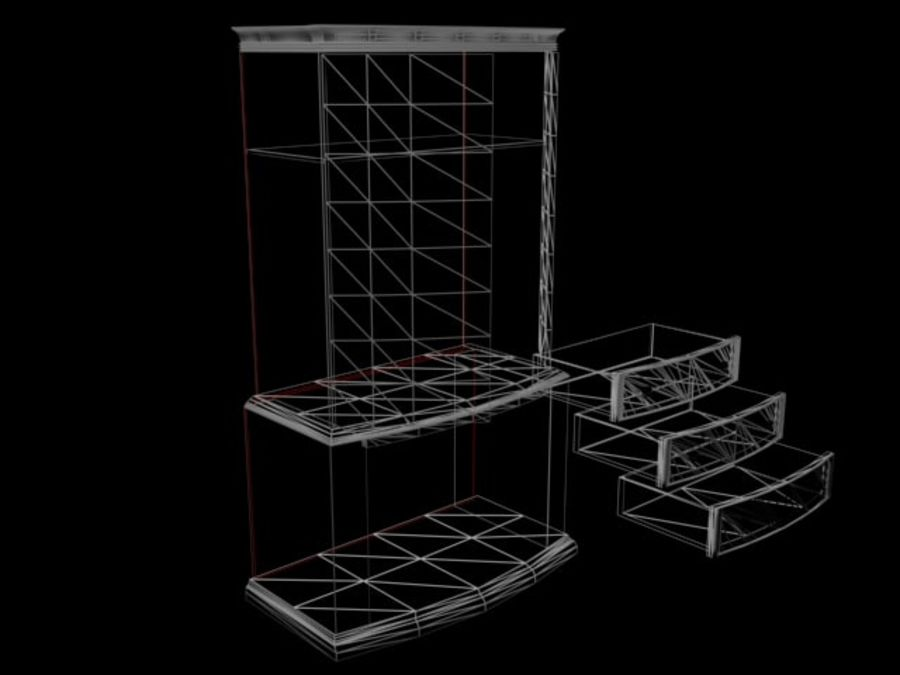 Şifonyer Armoire royalty-free 3d model - Preview no. 14