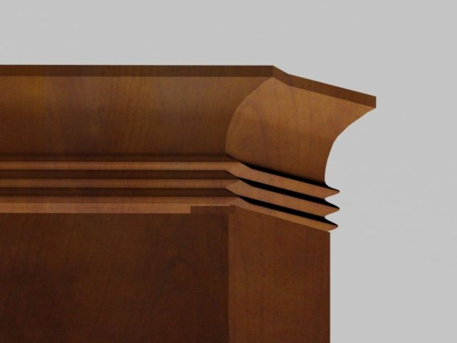 Şifonyer Armoire royalty-free 3d model - Preview no. 6