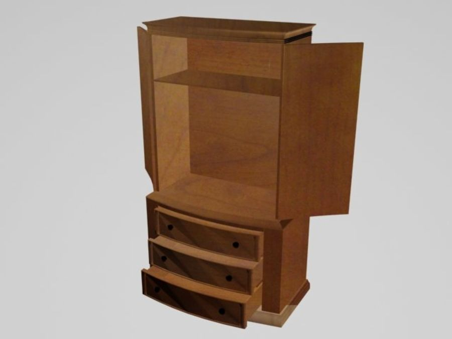 Şifonyer Armoire royalty-free 3d model - Preview no. 2