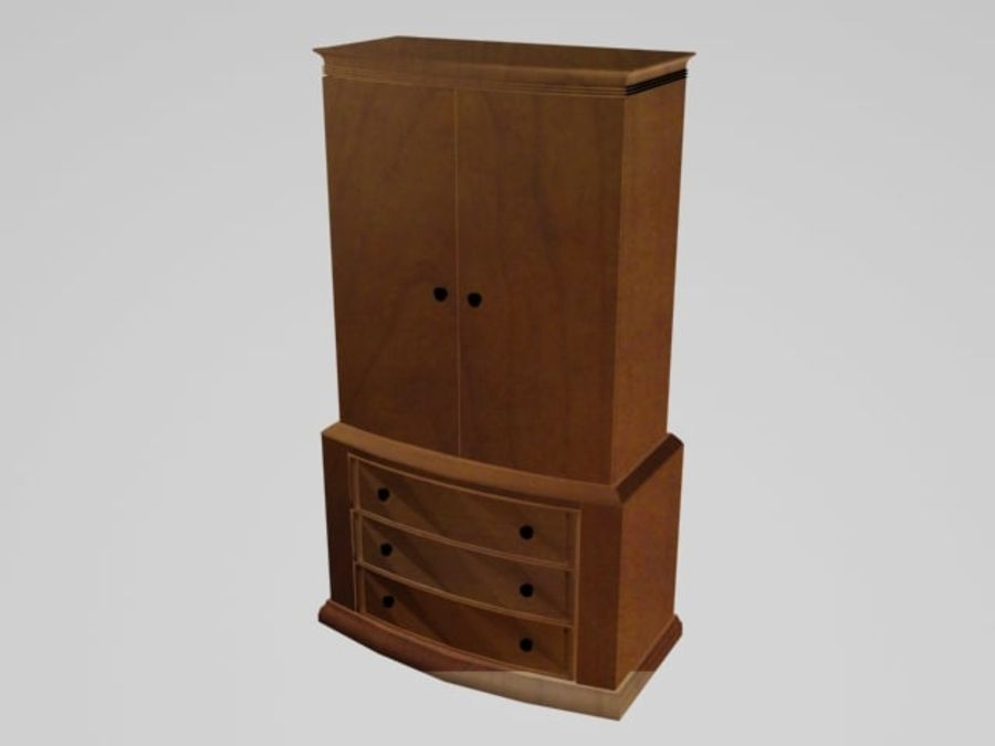 Şifonyer Armoire royalty-free 3d model - Preview no. 1