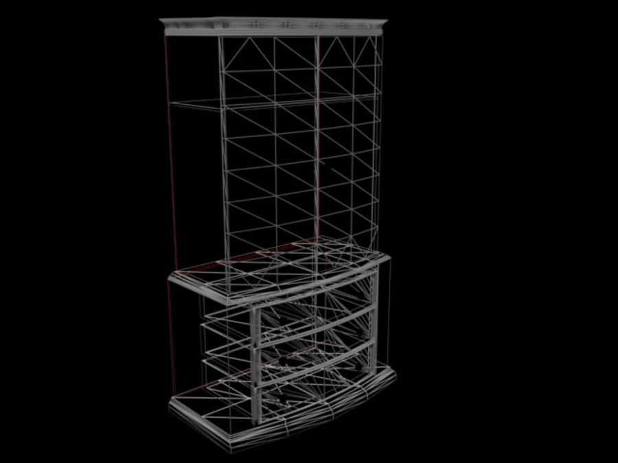 Şifonyer Armoire royalty-free 3d model - Preview no. 16