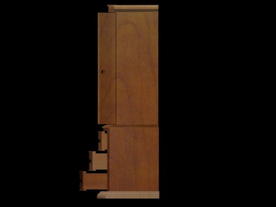 Şifonyer Armoire royalty-free 3d model - Preview no. 11