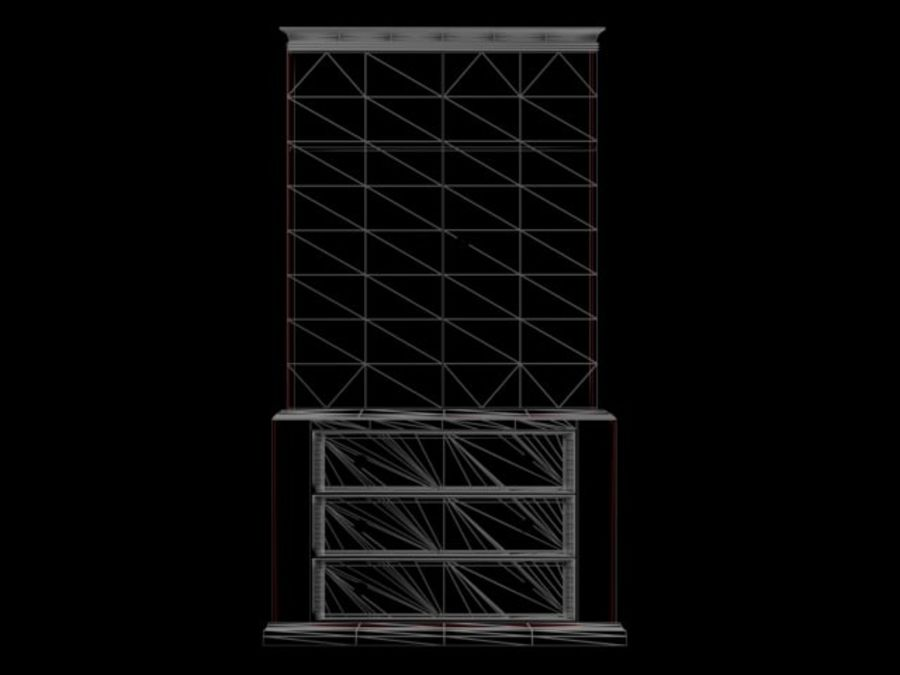 Şifonyer Armoire royalty-free 3d model - Preview no. 17