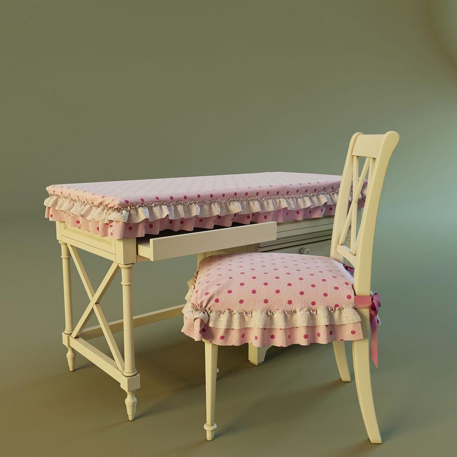 Biurko i krzesło royalty-free 3d model - Preview no. 3