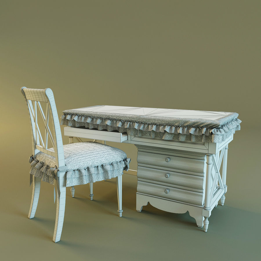 Biurko i krzesło royalty-free 3d model - Preview no. 2
