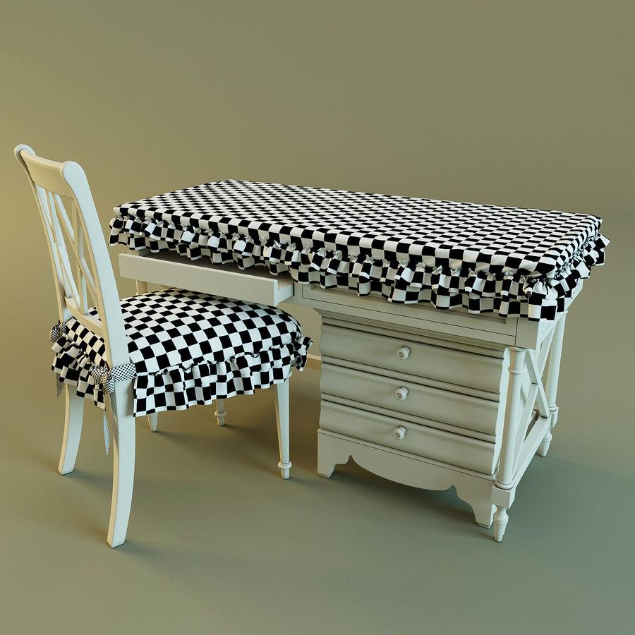 Biurko i krzesło royalty-free 3d model - Preview no. 13