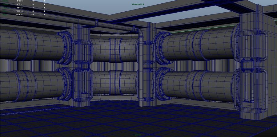 Facility interior modular royalty-free 3d model - Preview no. 6