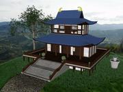 Bâtiment asiatique 3d model