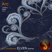 Arc Elven 3D Ornament 3d model