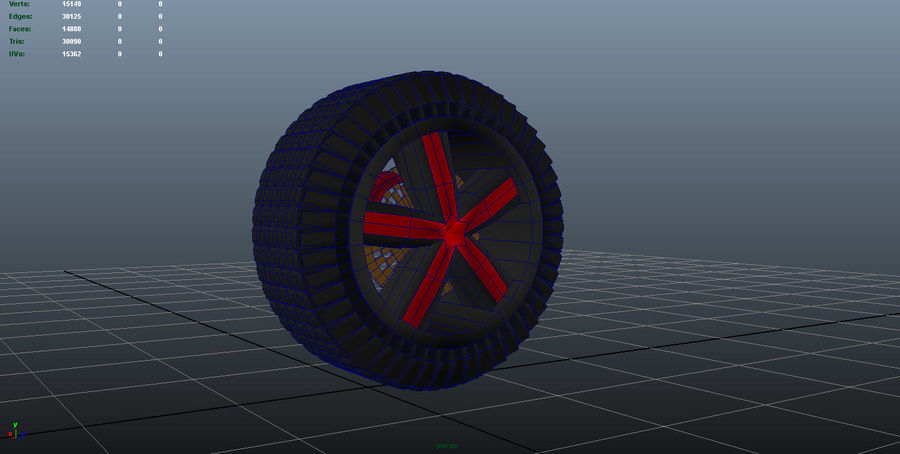 Car Wheel 1 royalty-free 3d model - Preview no. 5